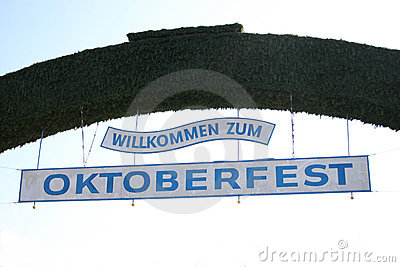 Welcome to Oktoberfest Editorial Stock Image