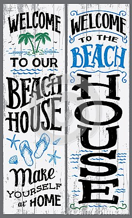 Free Welcome To Our Beach House Sign Royalty Free Stock Image - 110740856