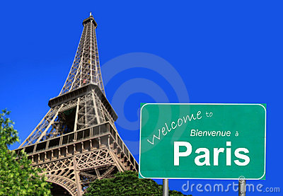 Welcome To Paris Sign Stock Photography Image 19318412