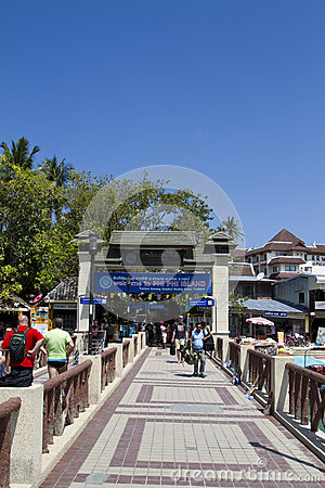 Welcome to Phi Phi Island Editorial Stock Photo