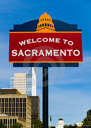 Free Welcome To Sacramento Sign Stock Photography - 5401692