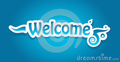Welcome vector lettering