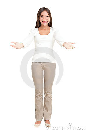 Free Welcome Woman Greeting Stock Image - 18317511