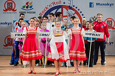 Welcoming the participants of World championship on Acrobatic Rock n roll Editorial Stock Photo