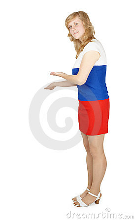 Welcoming Russian woman