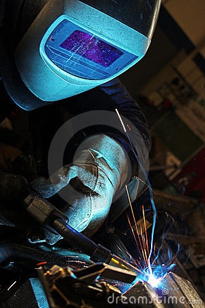 Free Welder In A Factory Royalty Free Stock Image - 3568616