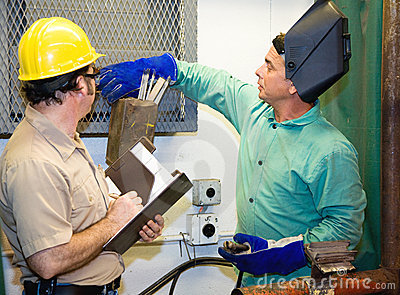 Welder With Supervisor Stock Photography - Image: 7303662