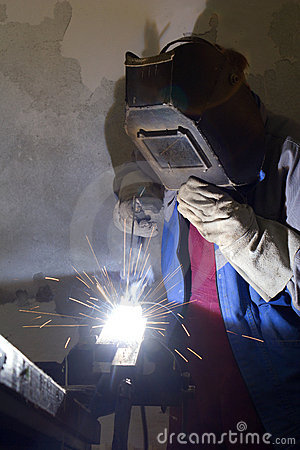 Welder by the work