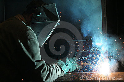 Welder at work Construction Worker
