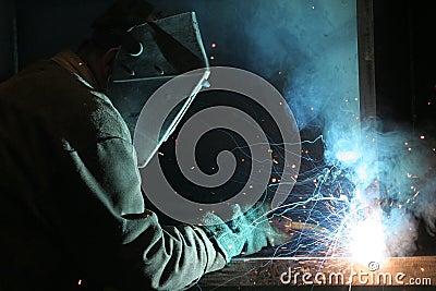 Welder at work Construction Worker