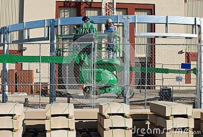 Welders on Lift