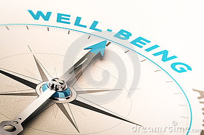 Well-being or wellness Cartoon Illustration