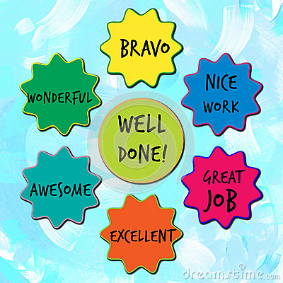 Well Done Appreciation Messages For Children Stock