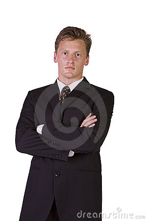 Well dressed  businessman with crossed arms