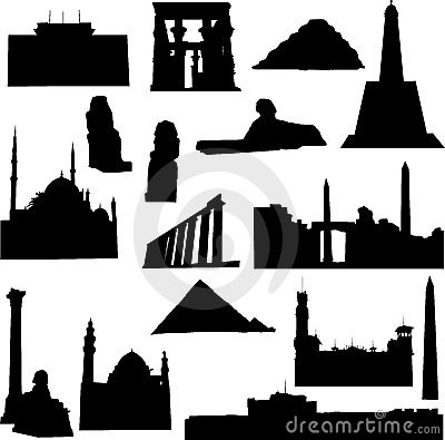Well-known Egypt architecture