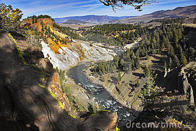 The well-known Yellowstone national park