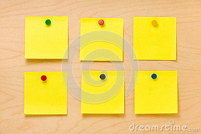 Well Ordered Yellow Post-it Collection