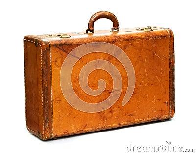 Well-Traveled Vintage Suitcase