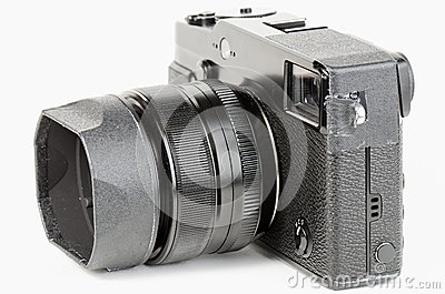 Well used, retro style, viewfinder camera