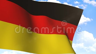 Wellenartig bewegende Flagge von Deutschland stock video footage