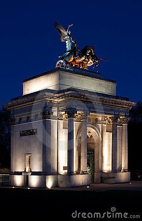 Free Wellington Arch, Hyde Park Corner, London Stock Images - 14188384