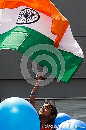 Flag of India Editorial Stock Photo