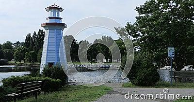 Wellington Park in Simcoe, Canada 4K stock footage