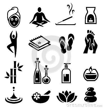 Free Wellness And Relax Icons Royalty Free Stock Photo - 37347405