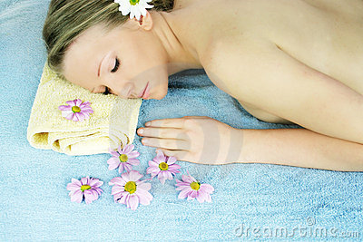 Wellness beauty portrait
