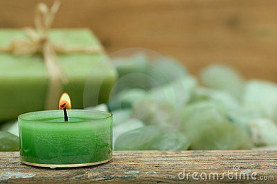 Wellness candle and soap