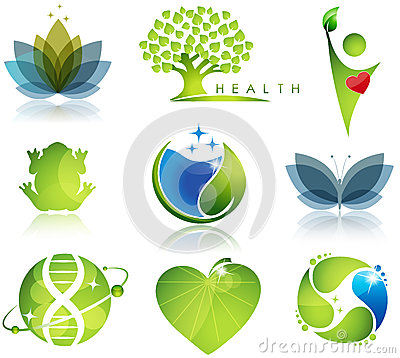 Wellness and ecology Vector Illustration