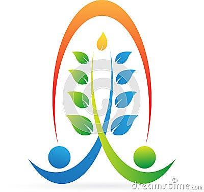 Wellness logo Vector Illustration