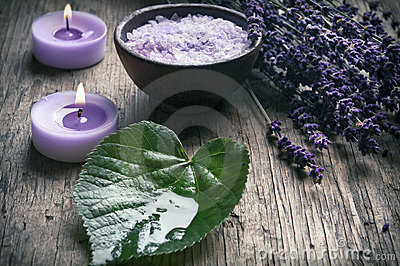 Wellness in purple lavender style