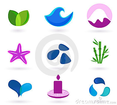Free Wellness, Relaxation And Medical Icons Royalty Free Stock Photography - 14161577