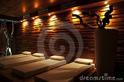 Wellness restroom with beds