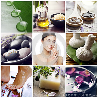 Wellness spa collage