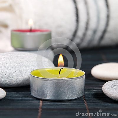 Wellness and spa concept with candles
