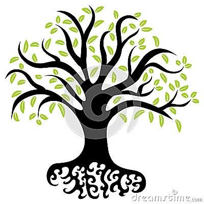 Wellness Tree Vector Illustration