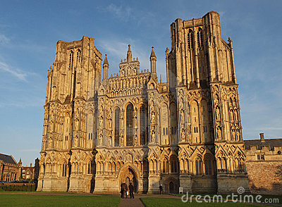 Wells Cathedral, Somerset, England Editorial Stock Photo