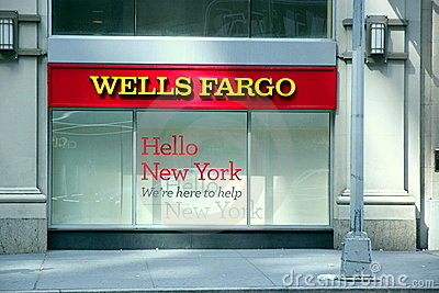 Wells Fargo Editorial Stock Image