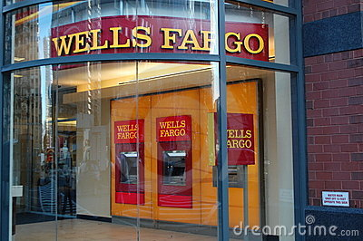 Wells Fargo Bank Editorial Stock Image
