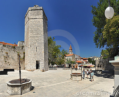 Wells in Zadar Editorial Stock Image