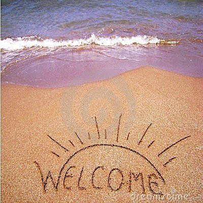 Welome Summer Holidays Royalty Free Stock Photography