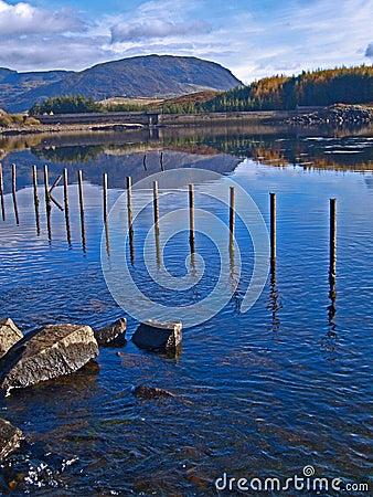 Welsh mountain lake