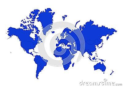 Stockfoto politische karte der kontinente