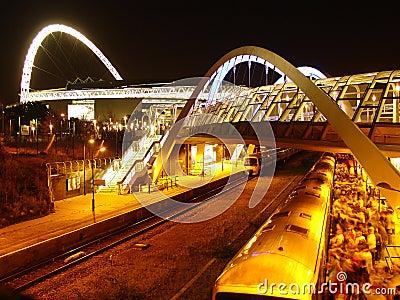 Wembley stadium and railway.