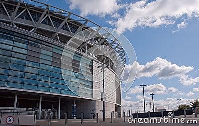 Wembley stadium at a sunny day Editorial Image