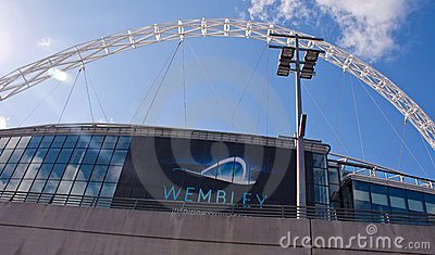 Wembley stadium at a sunny day Editorial Image