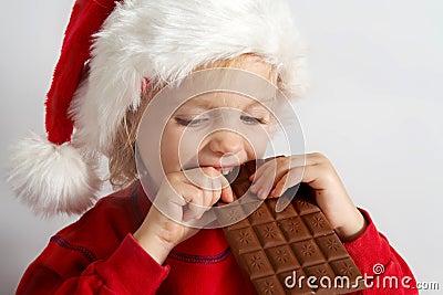 Wenig Schokolade Sankt
