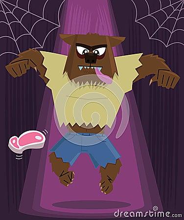 Werewolf halloween character vector illustration
